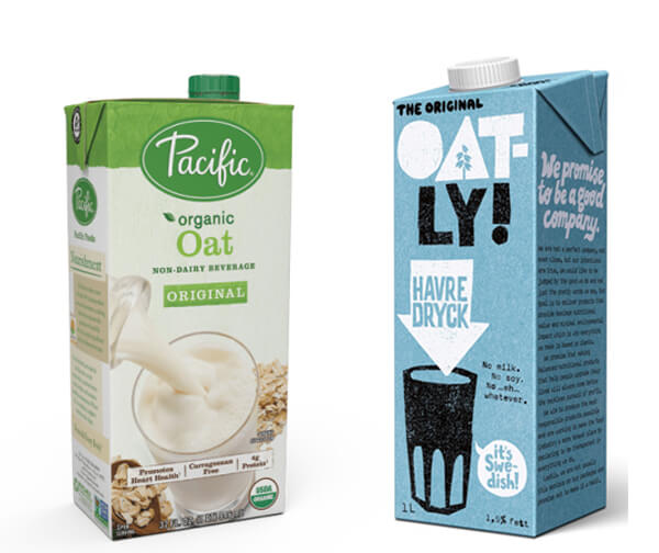 Oat Milk - Oatly and Pacific
