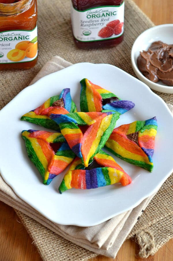 Rainbow Triangle Cookies by Kitchen Tested