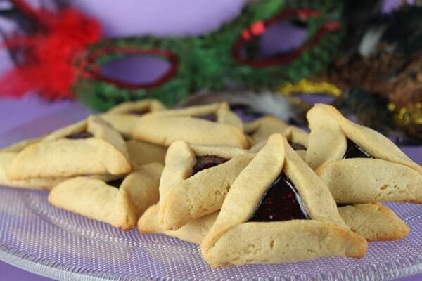 Peanut Butter and Jelly Hamantaschen by the Joy of Kosher