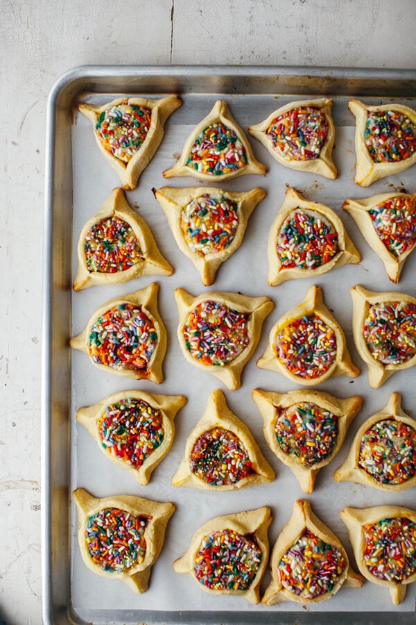 Rainbow Sprinkle Hamantaschen by Molly Yeh