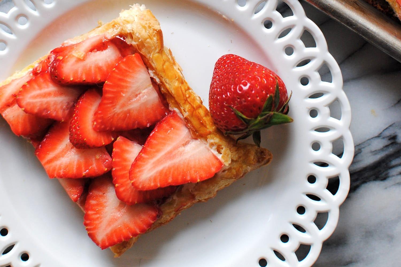Strawberry Puff Pastry Tart