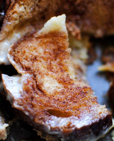 Cinnamon Bread Pudding with Vanilla Sauce