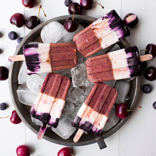 Cherry Blueberry Popsicles