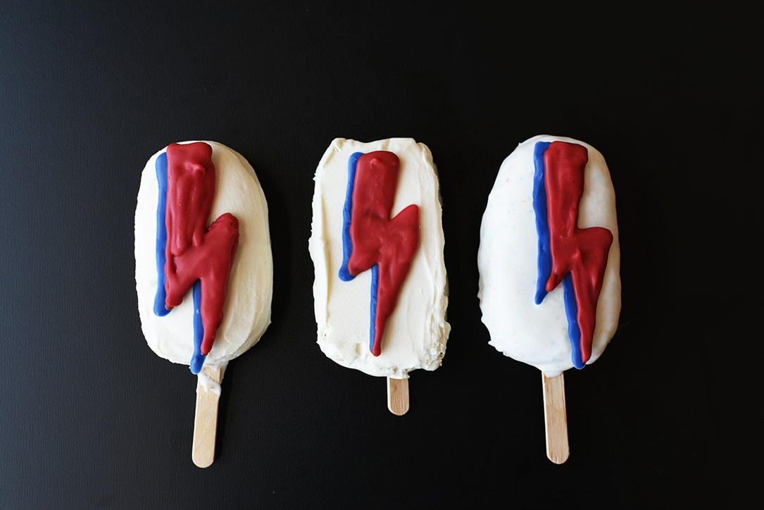 David Bowie Inspired Ghost Pepper Ice Cream Popsicles
