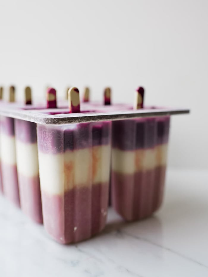 Red White and Blue Popsicles - Frozen in Mold