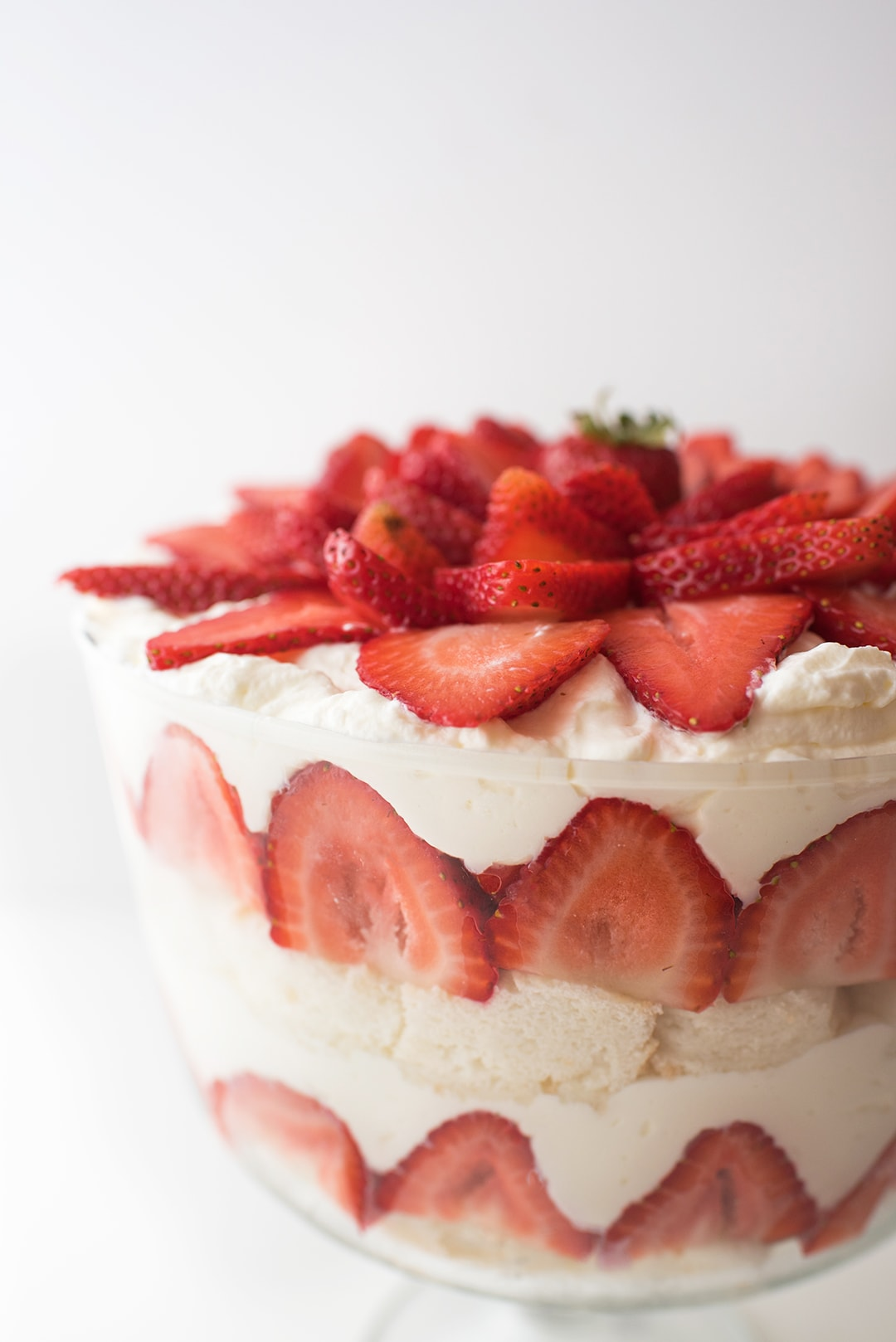Strawberry Trifle close up