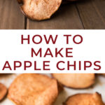 If you're looking for a healthy after-school fall snack Cinnamon Apple Chips are a perfect h! These baked apple chips are an easy snack and there's only two ingredients! #fallsnacks #fall #snack #snacks #healthy #easy #vegansnack #applechips #bakedchips #bakedapples #bakedapplechips #letseatcake #vegan #lovemyralphs #ralphs #sponsored