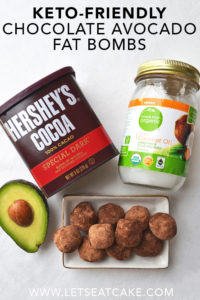 Keto-Friendly Avocado Chocolate Fat Bombs