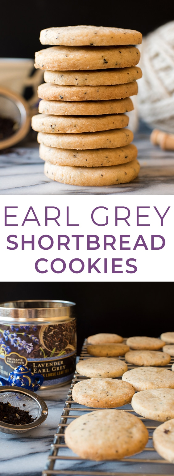 Lavender Earl Grey Shortbread Cookies made with Private Selection Tea! #ralphs #krogerco #privateselection #sponsored #tea #shortbread #shortbreadcookies #teacookies #cookies #baking #holidays #christmascookies @Kroger