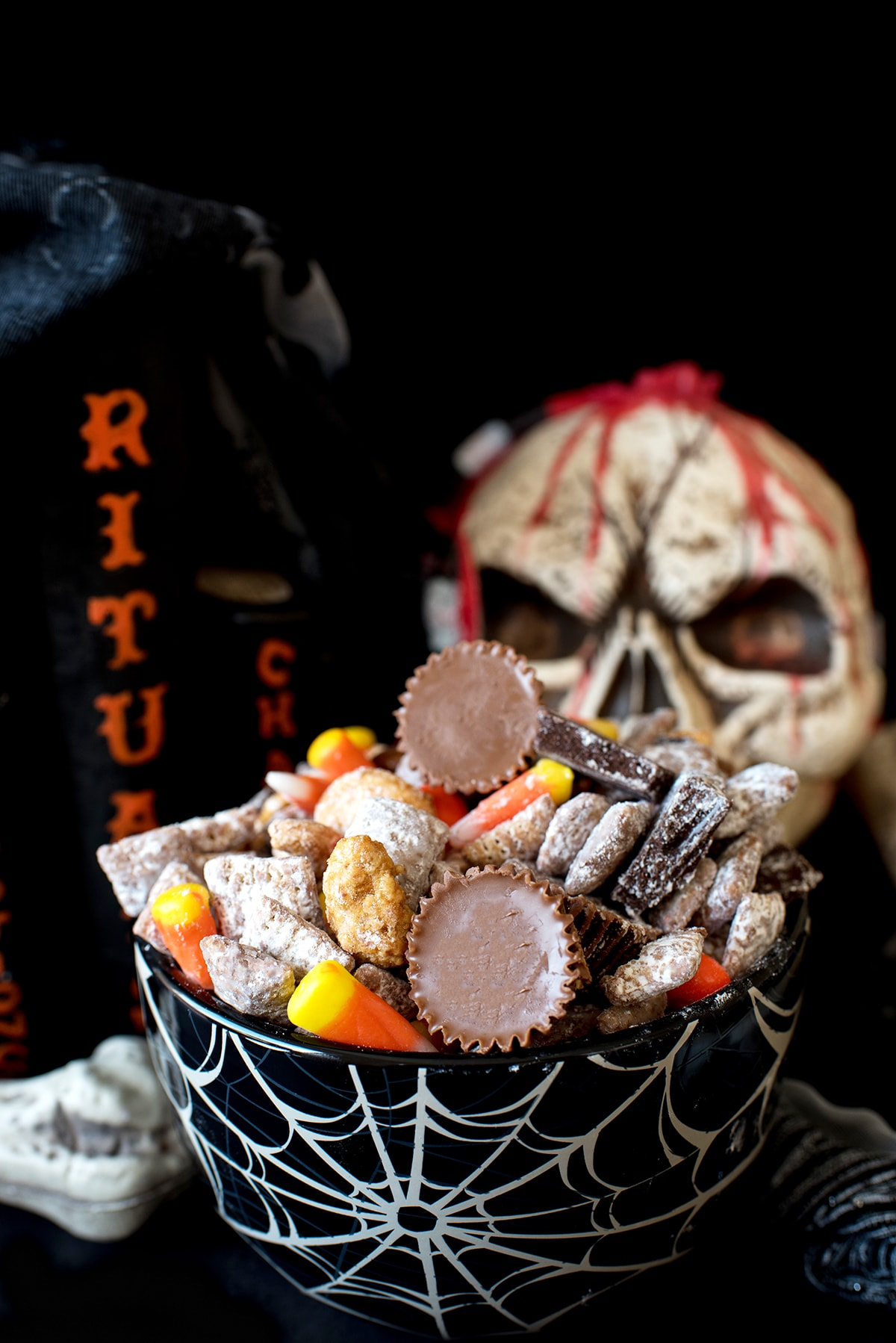 halloween puppy chow recipe recipe | let's eat cake