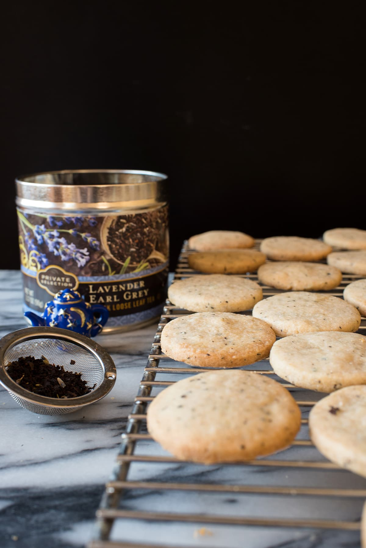 Lavender Earl Grey Shortbread Cookies