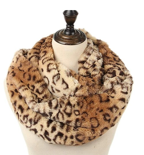 Basic Bitch Gift Guide - Faux Fur Leopard Infinity Scarf