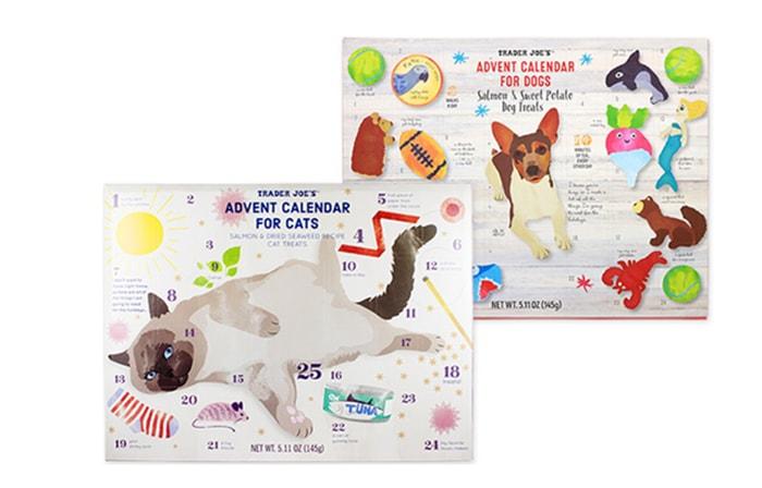 Unique Advent Calendars - Trader Joe's Cat and Dog