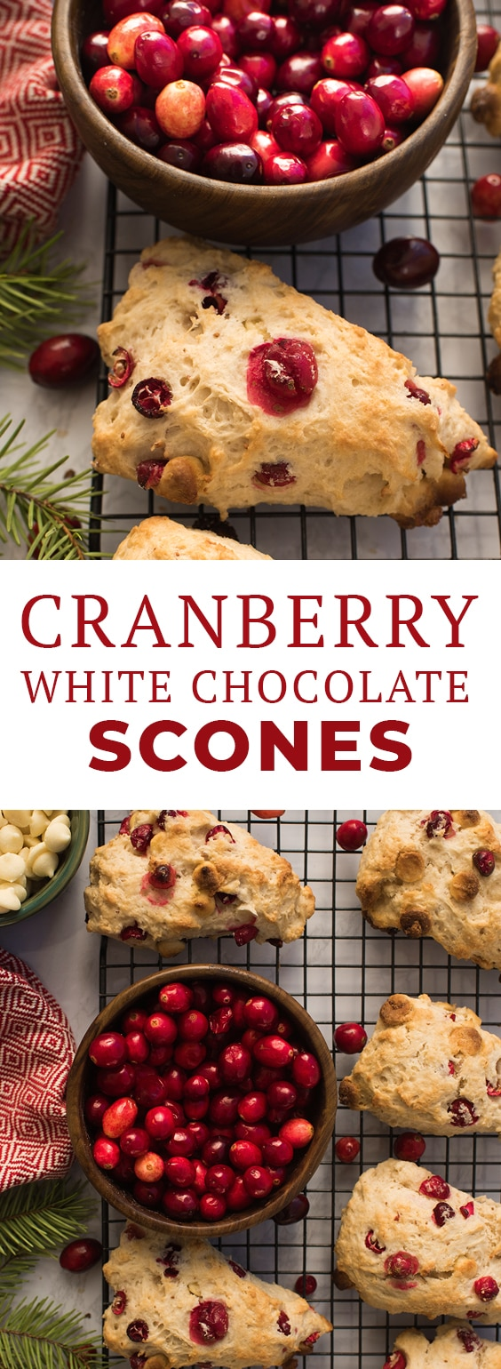 This easy scones recipe for Cranberry White Chocolate Scones requires just one bowl and can be on your table in 30 minutes! Get the recipe and find all of the ingredients - including fresh cranberries - at your local Ralphs, part of the Kroger Family of Stores. #sponsored #lovemyralphs #ralphs #kroger #cranberries #scones #sconerecipe #easyscones #food