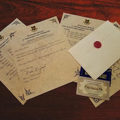 Let's Eat Cake Editors' Gift Guide - Hogwarts Acceptance Letter