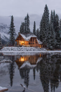 Winter Hashtags - Cozy Winter Cabin on the Lake