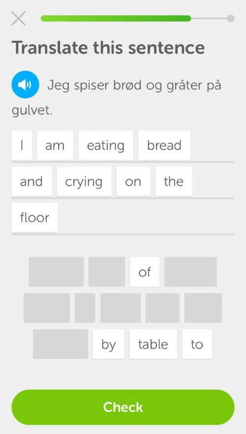 Duolingo Memes - eating bread crying on the floor