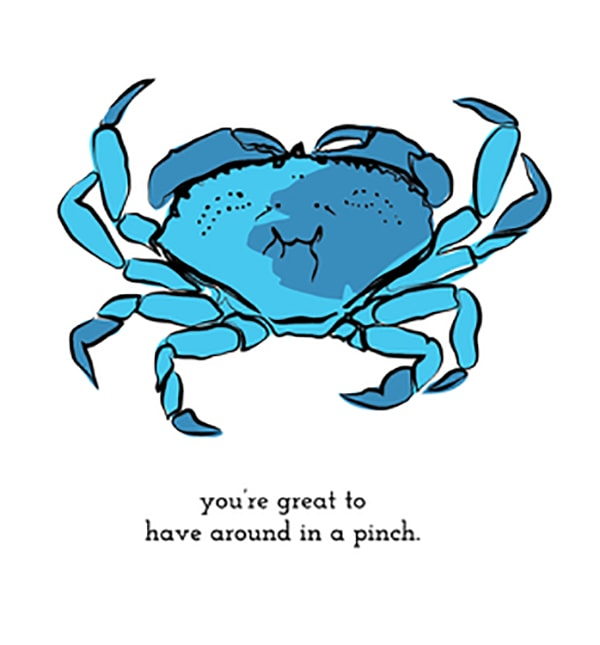 Beach Puns - You're Great to Have Around in a Pinch Crab