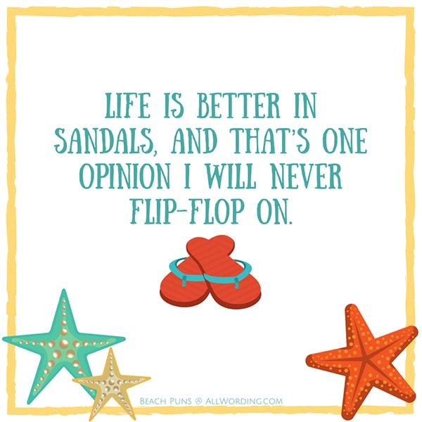Beach Puns - Flip Flops
