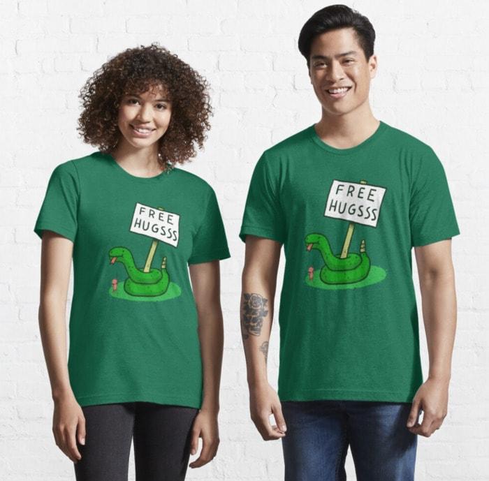 Ella Lopez Shirts From Lucifer - Free Hugs Snake