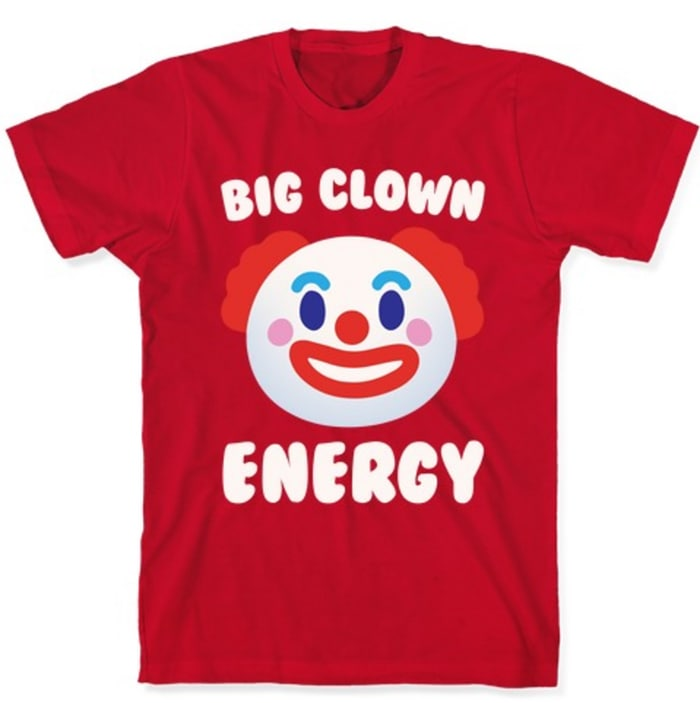 Ella T Shirts Lucifer - big clown energy