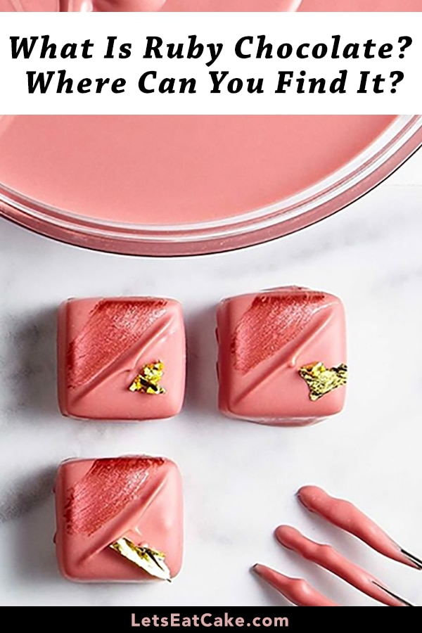 Ruby Chocolate by Barry Callebaut