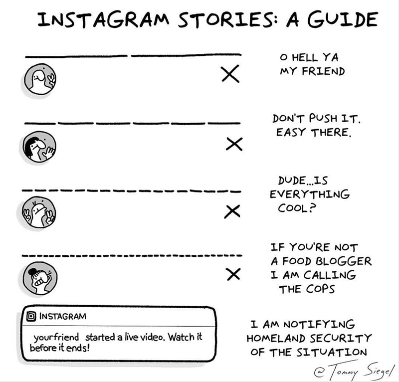 Tommy Siegel - Instagram Stories