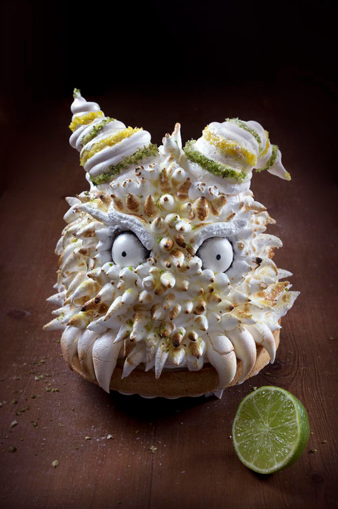 La Chateleine Creepy Halloween Cakes and Desserts - Lemonster Pie