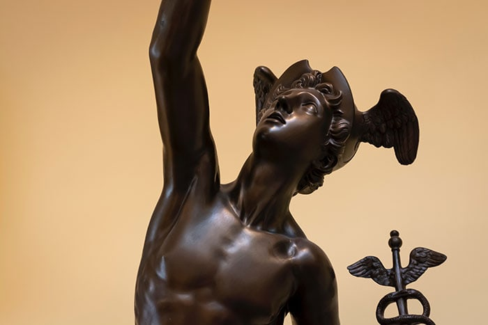 Mercury in Retrograde statue