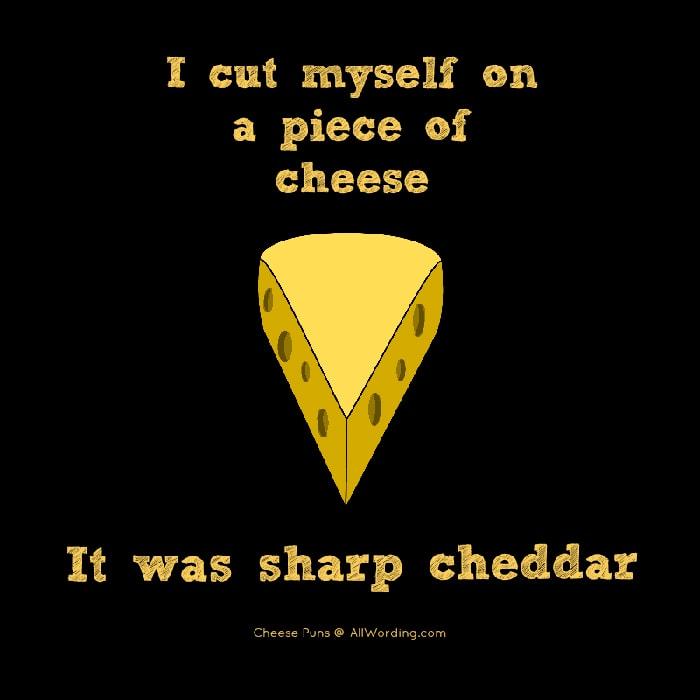 Cheese puns - sharp cheddar