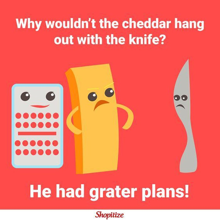 cheese puns - grater