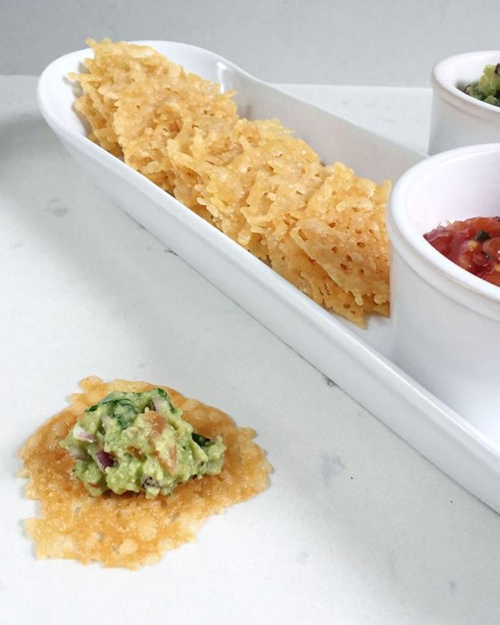 low carb movie snacks - parmesan crisps