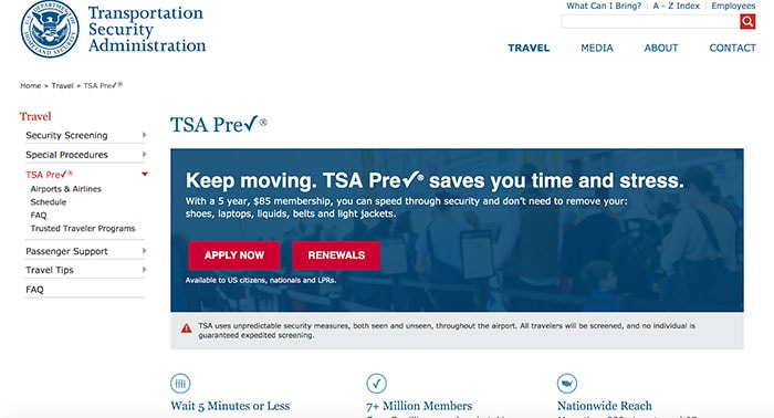 What Is TSA PreCheck - form 1