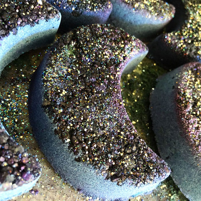 Goth Bath Bombs - Crescent Moon