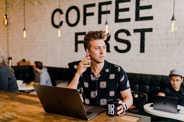 Millennial Slang and Gen Z Phrases - guy in coffeeshop