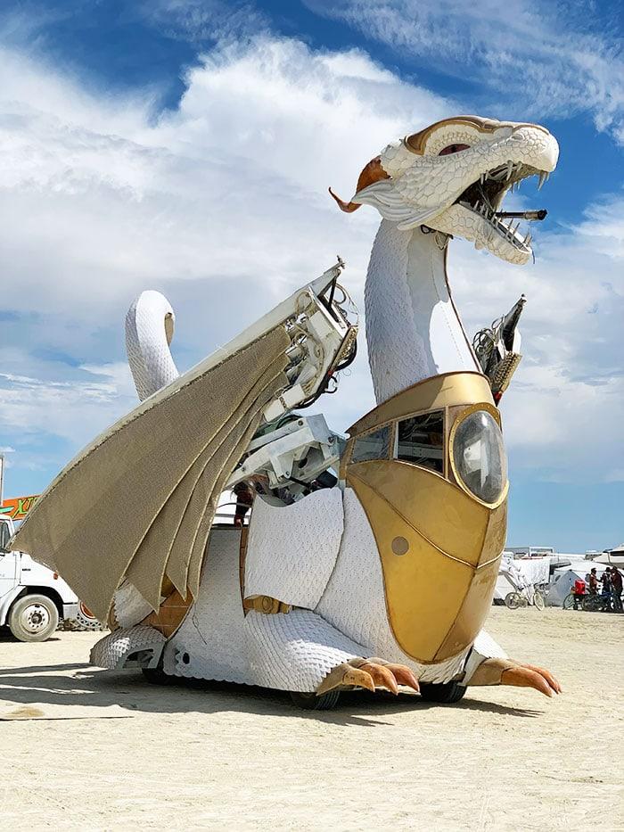 10 Principles of Burning Man - Sean Orlando Dragon Art Car