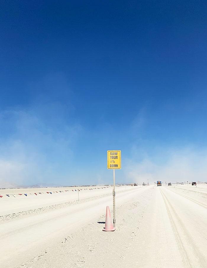 10 Principles of Burning Man - Gate sign