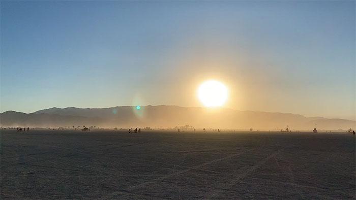 10 Principles of Burning Man - Black Rock Desert Playa at Sunset