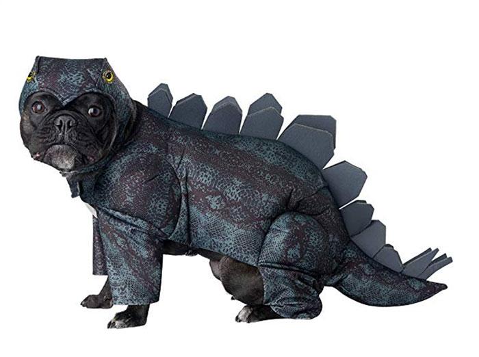 Funny Dog Costumes for Halloween - Dinosaur Stegosaurus
