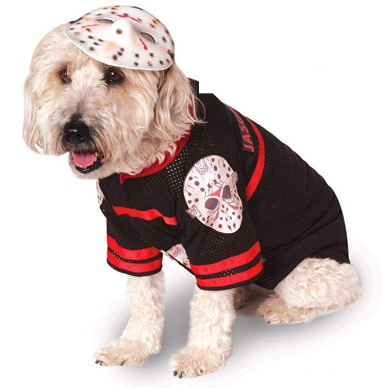 Funny Dog Costumes for Halloween - Jason Voorhees Friday 13th