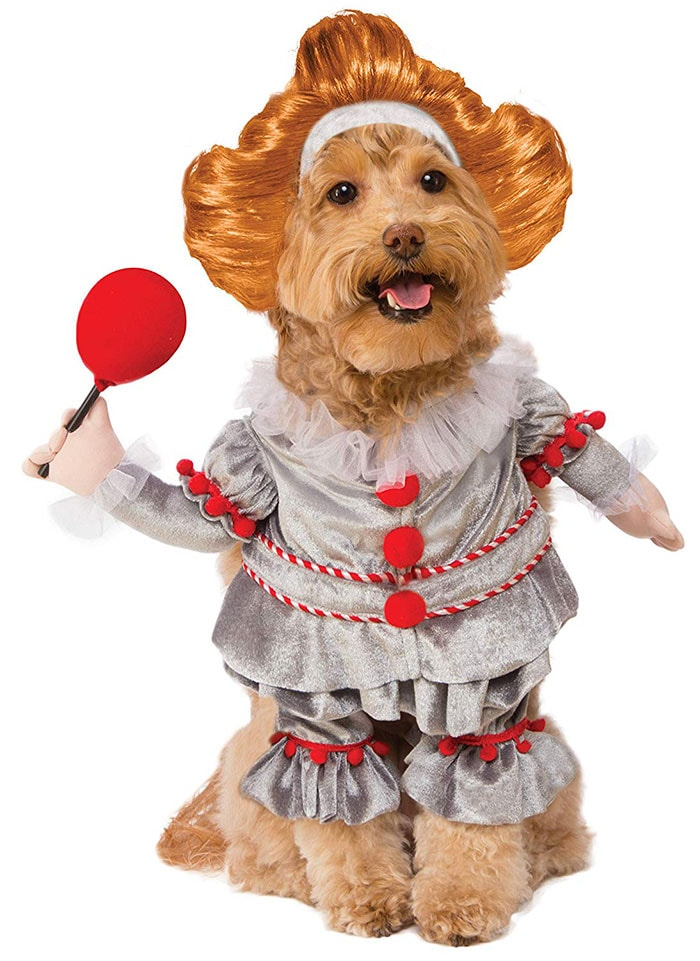 Funny Dog Costumes for Halloween - Pennywise IT Clown