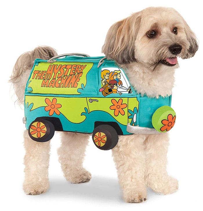 Funny Dog Costumes for Halloween - Scooby Doo Mystery Machine