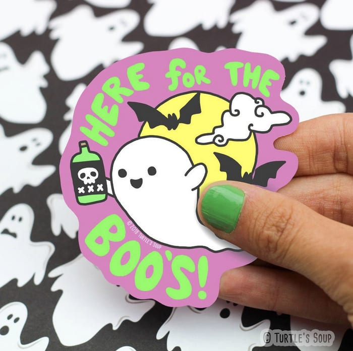 Halloween Puns - Here for the Boos