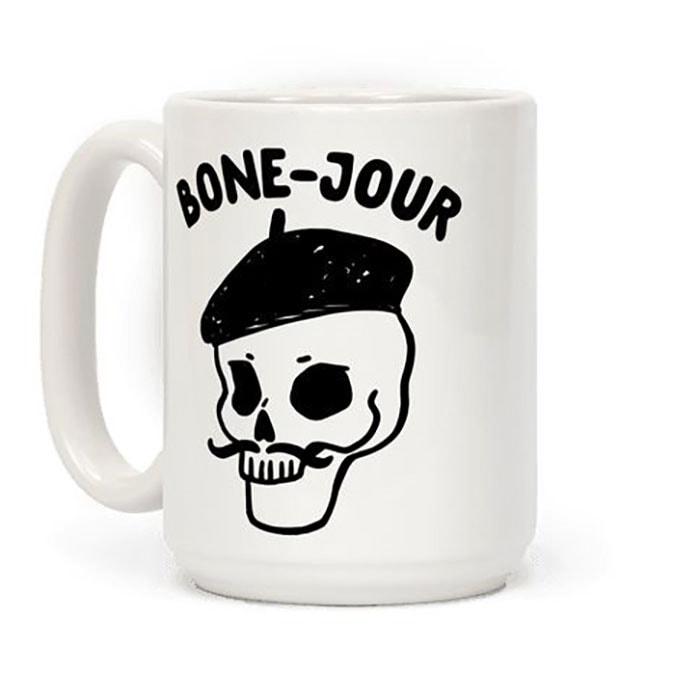 Halloween Puns - Bone Jour Mug