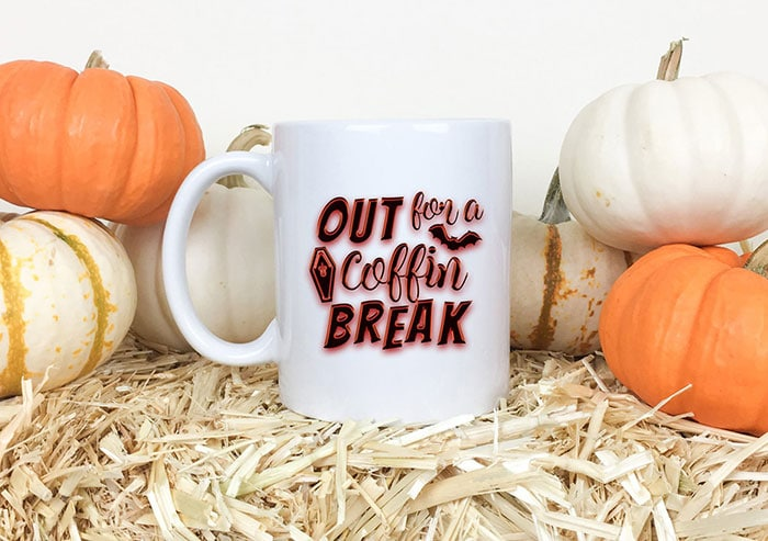 Halloween Puns - Out for a Coffin Break Mug