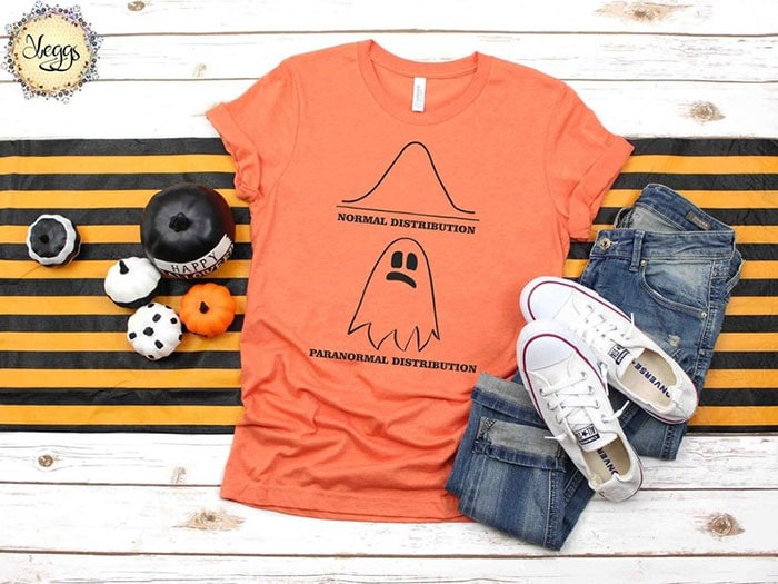 Halloween Puns - Paranormal Distribution ghost shirt