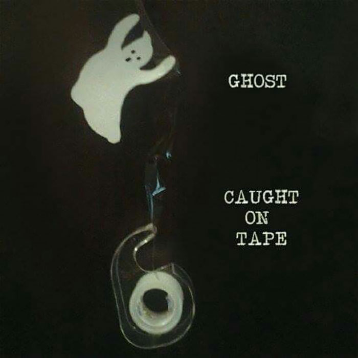 Ghost Caught on Tape literally