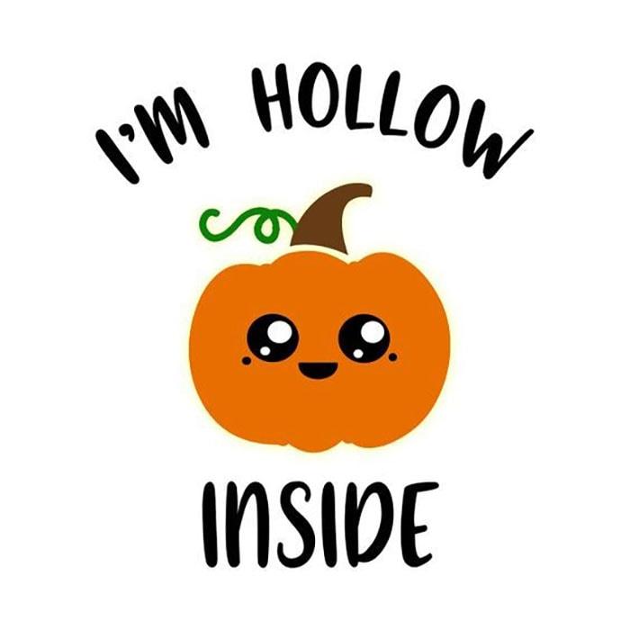 Halloween Puns - I'm Hollow Inside Pumpkin