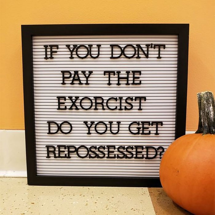 Halloween Puns - Repossessed Sign