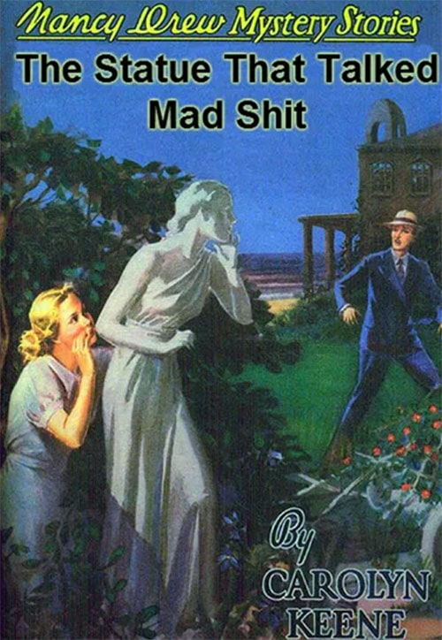 Nancy Drew Fake Book Covers - The Statue That Talked